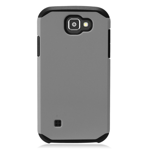 Insten Hard Hybrid TPU Cover Case For LG K3 (2016), Gray/Black