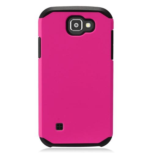 Insten Hard Hybrid TPU Case For LG K3 (2016), Hot Pink/Black