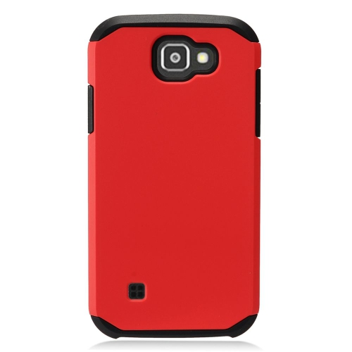 Insten Hard Dual Layer TPU Case For LG K3 (2016), Red/Black