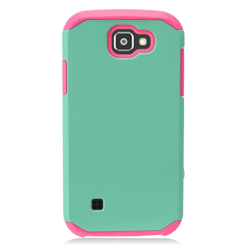 Insten Hard Hybrid TPU Case For LG K3 (2016), Green/Pink