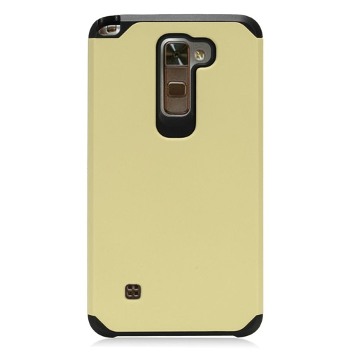 Insten Hard Dual Layer TPU Cover Case For LG Stylo 2 Plus, Gold/Black