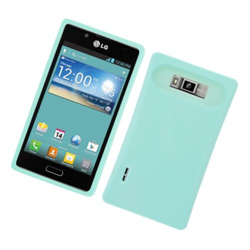 Insten Night Glow Hard Jelly Silicone Case For LG Splendor US730 / Venice LG730, Mint Green