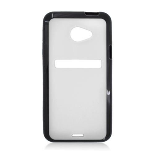 Insten Hard Plastic TPU Case For HTC EVO 4G LTE, White/Black