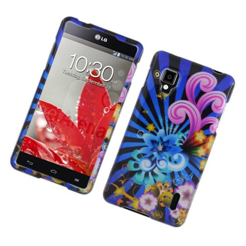 Insten Fireworks Hard Case For LG Optimus G LS970 Sprint, Blue/Colorful
