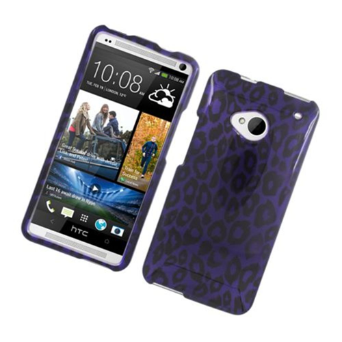 Insten Leopard Hard Cover Case For HTC One M7, Purple