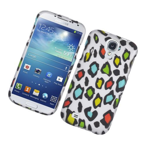 Insten Leopard Hard Rubber Cover Case For Samsung Galaxy S4, Multi-Color