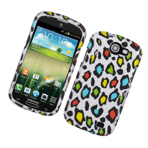 Insten Leopard Hard Rubber Coated Case For Samsung Galaxy Express SGH-i437, Multi-Color