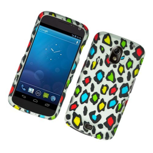 Insten Leopard Hard Rubberized Cover Case For Samsung Galaxy Nexus Prime i515, Multi-Color