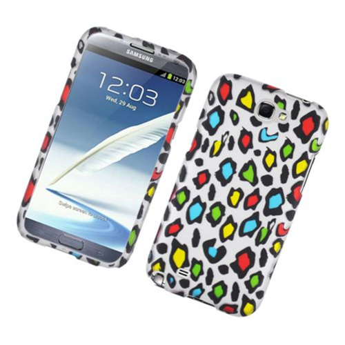 Insten Leopard Hard Rubberized Cover Case For Samsung Galaxy Note II, Multi-Color