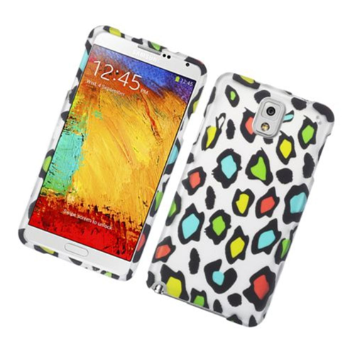 Insten Leopard Hard Rubber Coated Case For Samsung Galaxy Note 3, Multi-Color