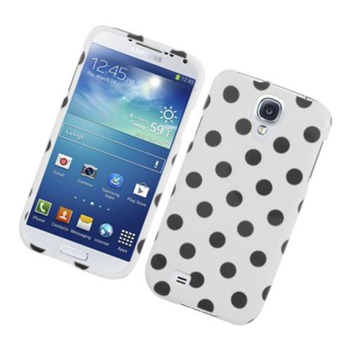 Insten Polka Dots Hard Plastic Case For Samsung Galaxy S4, White/Black