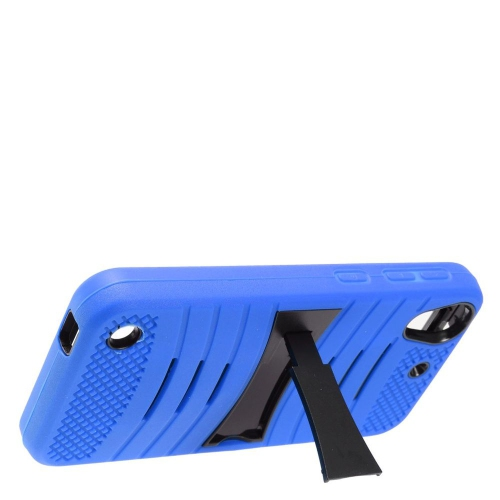 Insten Wave Symbiosis Skin Rubber Hard Case w/stand For HTC Desire 530, Blue/Black