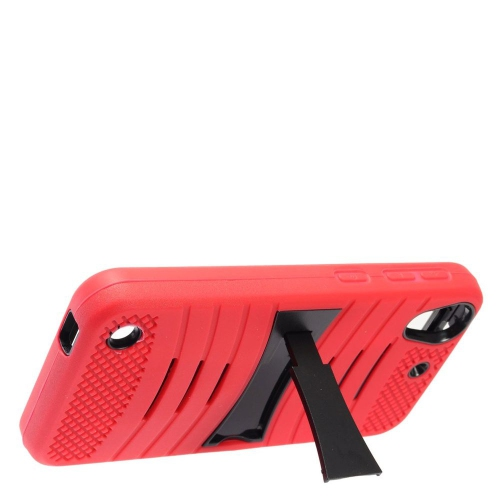 Insten Wave Symbiosis Skin Rubber Hard Cover Case w/stand For HTC Desire 530, Red/Black