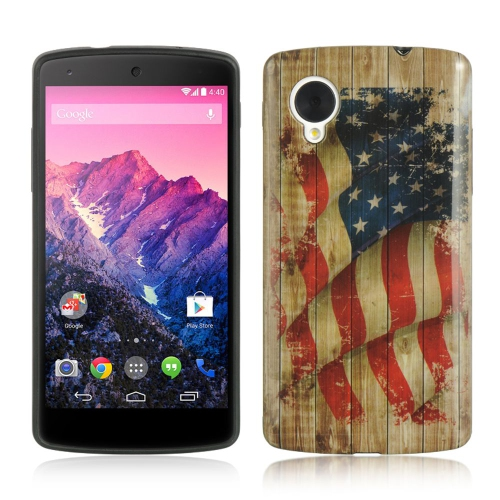 Insten Faded Glory TPU Cover Case For LG Google Nexus 5 D820, Red/Blue