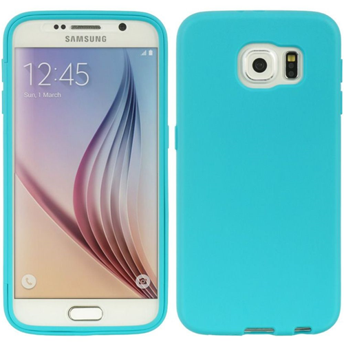 Insten Rubber Case w/Installed For Samsung Galaxy S6, Blue