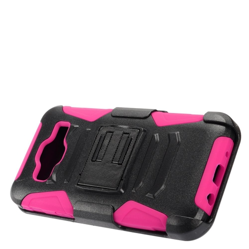 Insten Advanced Armor Hard Dual Layer Plastic Case w/stand For Samsung Galaxy On5, Black/Hot Pink
