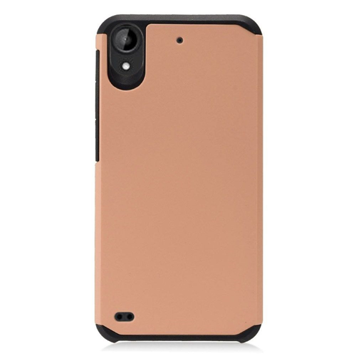 Insten Hard Dual Layer TPU Cover Case For HTC Desire 530, Rose Gold/Black