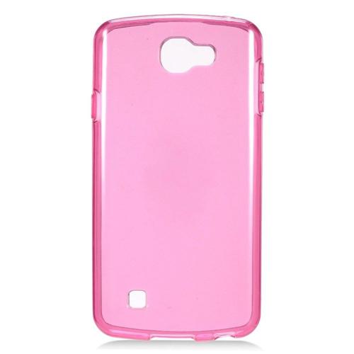 Insten Frosted Gel Case For LG K3 (2016), Hot Pink