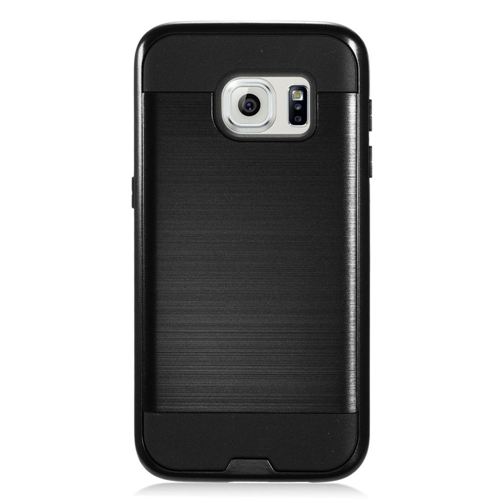 Insten Chrome Hybrid Brushed Hard Case For Samsung Galaxy S7, Black