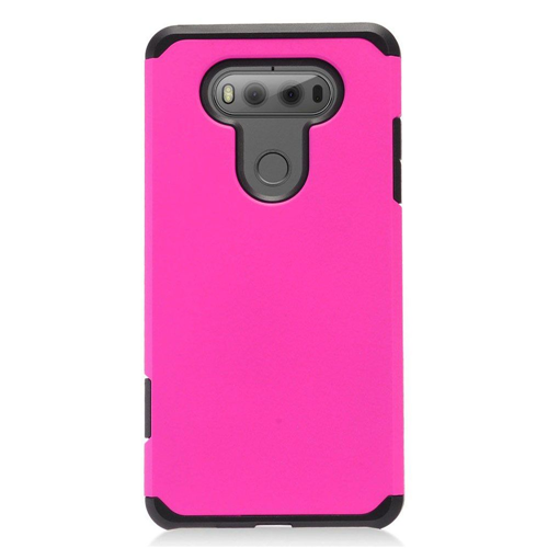 Insten Hard Hybrid TPU Cover Case For LG V20, Hot Pink/Black
