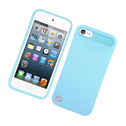 Insten Night Glow Hard Jelly Silicone Cover Case For Apple iPod Touch 5th Gen, Blue