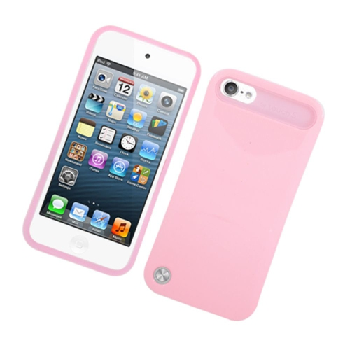 Insten Night Glow Hard Jelly Silicone Case For Apple iPod Touch 5th Gen, Pink