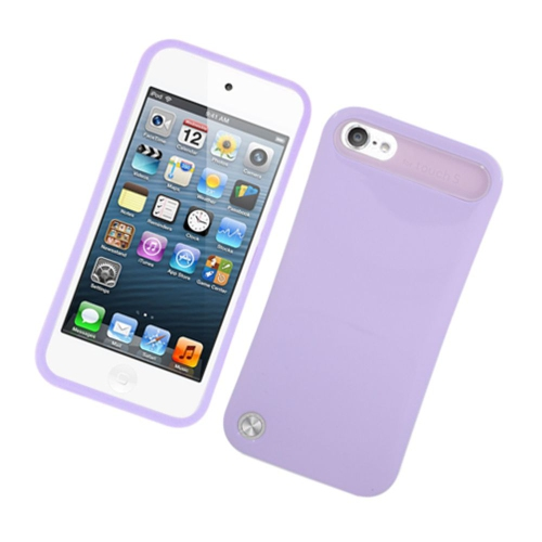 Insten Night Glow Hard Jelly Silicone Cover Case For Apple iPod Touch 5th Gen, Purple