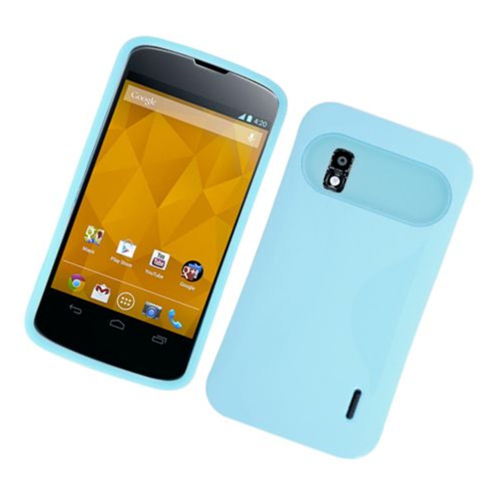 Insten Night Glow Hard Jelly Silicone Case For LG Google Nexus 4 E960, Blue