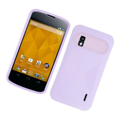 Insten Night Glow Hard Jelly Silicone Cover Case For LG Google Nexus 4 E960, Purple
