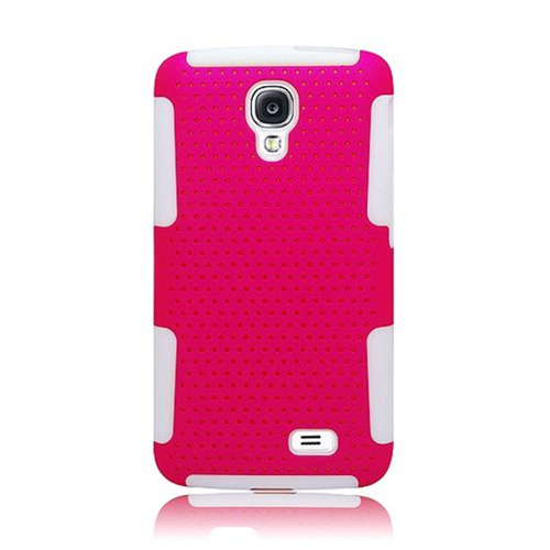Insten Mesh Hard Hybrid TPU Cover Case For LG F70 D315, Hot Pink/White