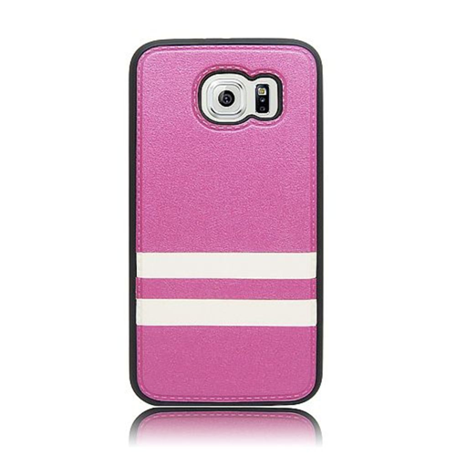Insten Fitted Soft Shell Case for Samsung Galaxy S6 - White;Purple
