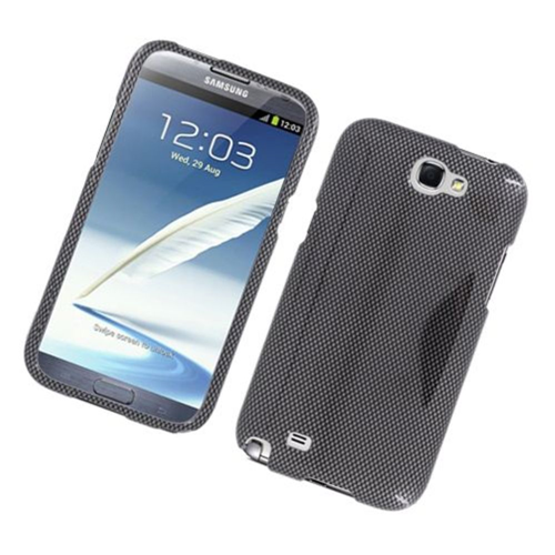 Insten Carbon Fiber Hard Case For Samsung Galaxy Note II, Dark Gray