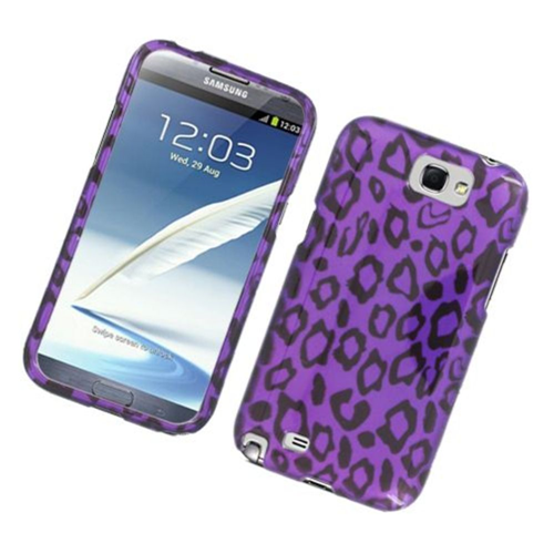 Insten Leopard Hard Case For Samsung Galaxy Note II, Purple