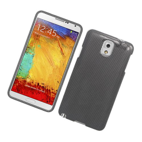 Insten Carbon Fiber Hard Case For Samsung Galaxy Note 3, Dark Gray