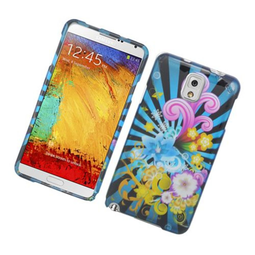 Insten Fireworks Hard Cover Case For Samsung Galaxy Note 3, Blue/Colorful