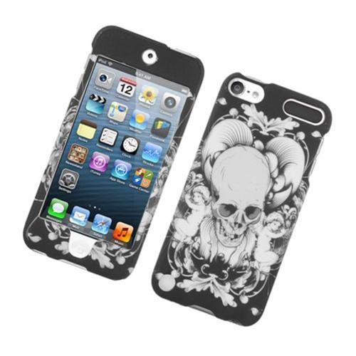 Insten Skull Hard Case For Apple iPod Touch 5th Gen, Black/White