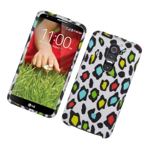 Insten Leopard Hard Rubberized Case For LG G2 D800 AT&T, Multi-Color