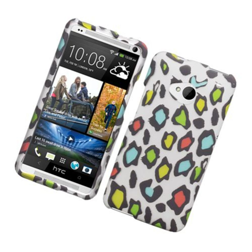 Insten Leopard Hard Case For HTC One M7, Multi-Color