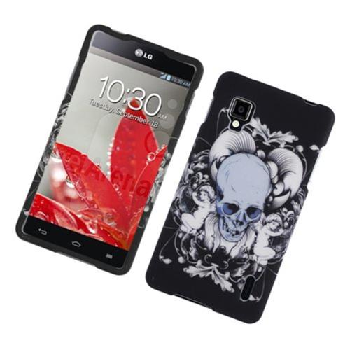 Insten Skull Hard Cover Case For LG Optimus G LS970 Sprint, Black/White