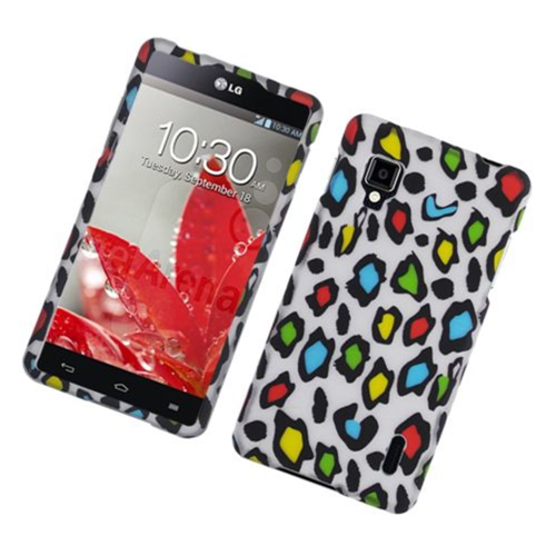 Insten Leopard Hard Rubber Case For LG Optimus G LS970 Sprint, Multi-Color