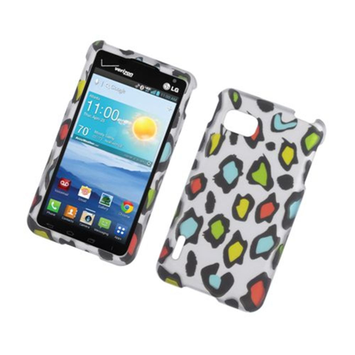 Insten Leopard Hard Rubber Cover Case For LG Optimus F3 LS720, Multi-Color