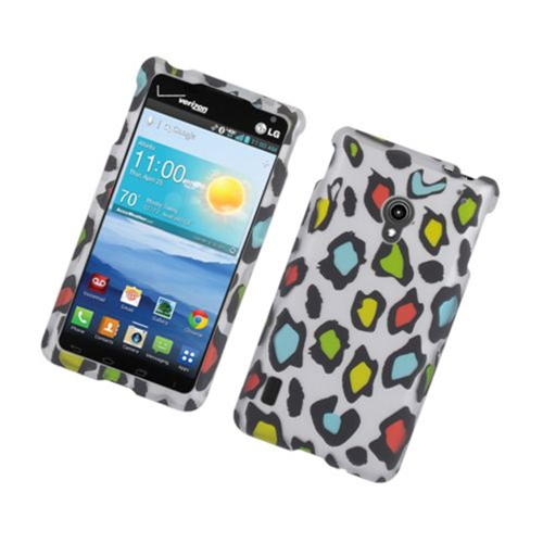 Insten Leopard Hard Cover Case For LG Lucid 2 VS870, Multi-Color
