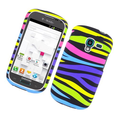 Insten Zebra Hard Rubber Case For Samsung Galaxy Exhibit T599, Colorful