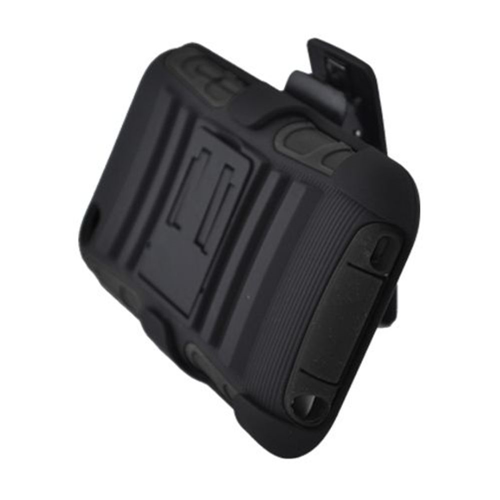 Insten Armor Hard Hybrid Plastic Silicone Case w/stand/Holster For Apple iPod Touch 4th Gen, Black