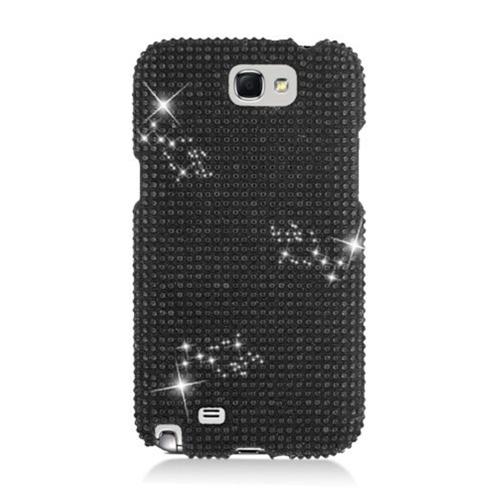 Insten Hard 3D Diamond Case For Samsung Galaxy Note II, Black
