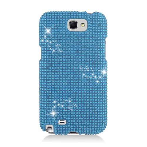 Insten Hard 3D Diamante Case For Samsung Galaxy Note II, Blue