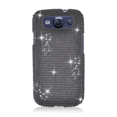 Insten Hard 3D Bling Case For Samsung Galaxy S3, Black