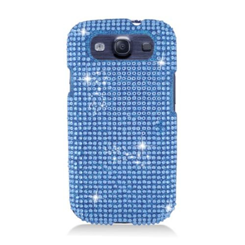 Insten Hard 3D Bling Case For Samsung Galaxy S3, Blue