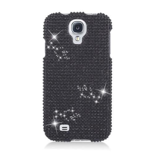 Insten Hard 3D Diamante Case For Samsung Galaxy S4, Black