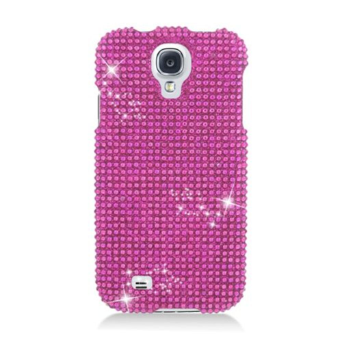 Insten Hard 3D Diamante Cover Case For Samsung Galaxy S4, Hot Pink